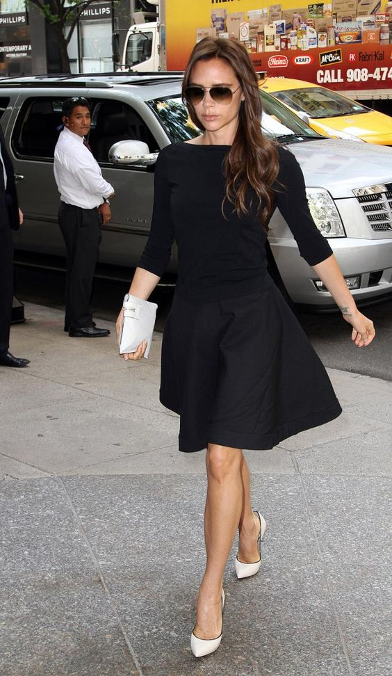 black dress white shoes office work one