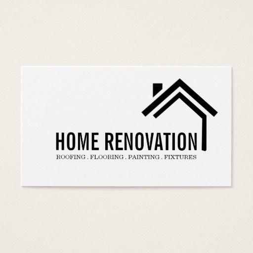 House Home Remodeling Renovation Construction Business Card Desain Logo Desain Desain Poster