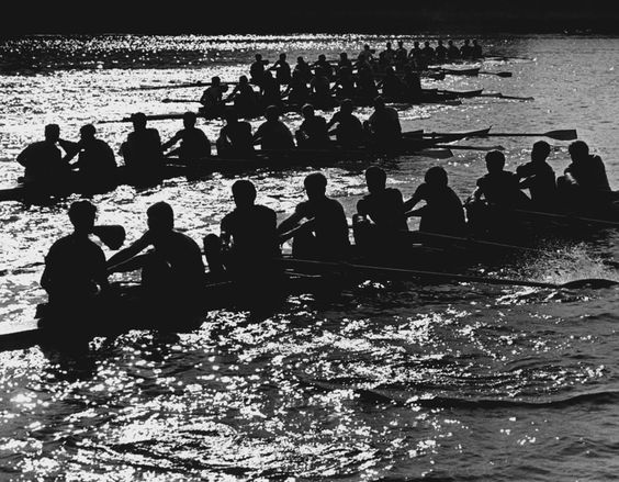 UW crew's shells rowing in 1970 | Pete Liddell Seattle Times photographer from 1966-1992