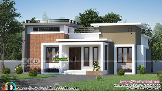 1154 Sq Ft 3 Bhk One Floor House Plan In 2020 Kerala House Design Small House Design Exterior House Roof Design