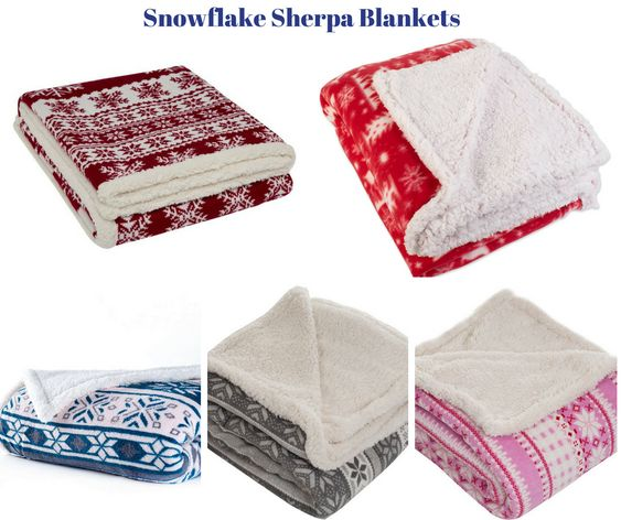 Snowflake Sherpa Blankets
