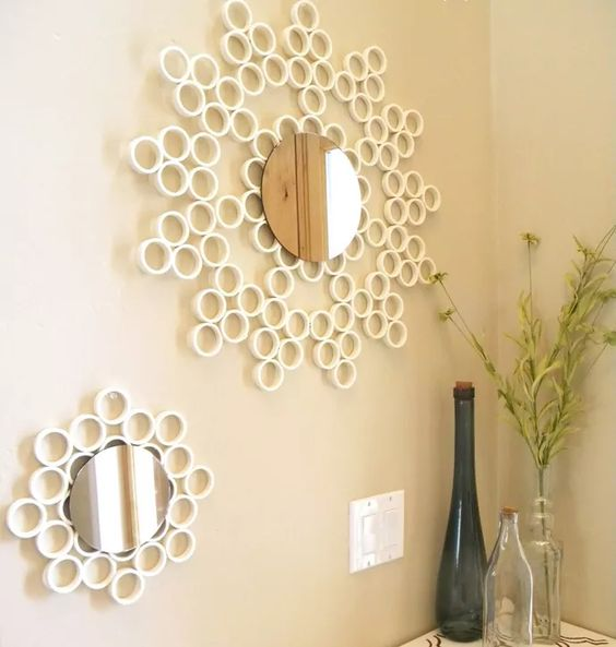 Como usar canos de PVC na decoração