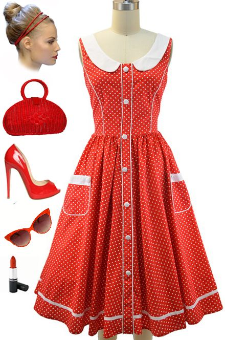yellow dress ith red polka dots etymology