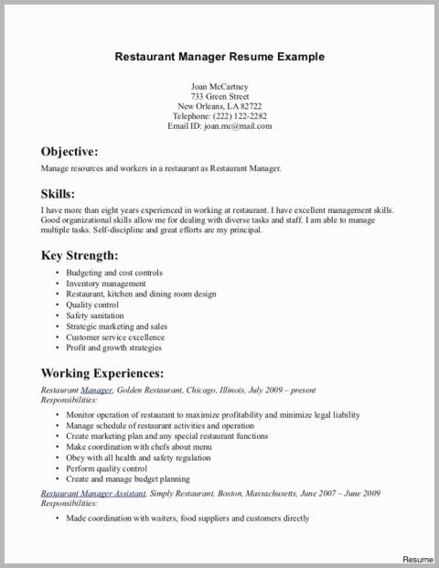 67 Beautiful Photos Of Resume Examples For Manager Of Restaurant Check More At Https Www Ourpetscrawley Com 67 Beautiful Photos Of Resume Examples For Manager