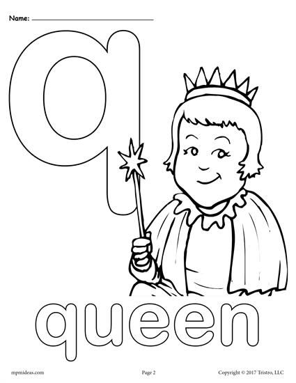 Free Printable Lowercase Letter Q Coloring Page Letter Q Worksheets Like This Are Perfect Fo Alphabet Coloring Pages Alphabet Coloring Letter A Coloring Pages