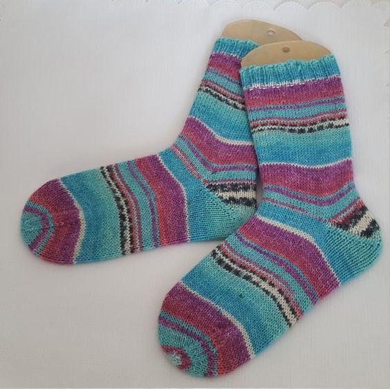 Womens Wool Socks   Hand Knitted  Opal by PreciousNewbornKnits