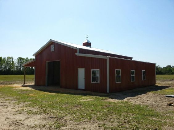 30x40x14 with 2 12x40 sheds post frame building www for Garage building companies