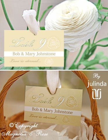 From the 'Vanilla and Mint' couture collection. Wedding Invitations, RSVP, Menus, Table and Favour/Decor Swing Tags.   © Julinda at Magnolia & Rose Weddings