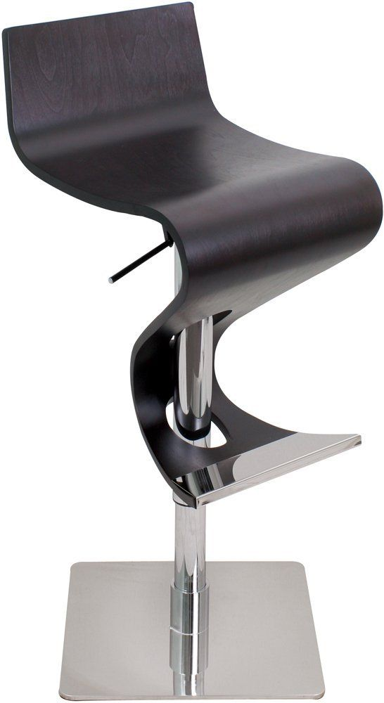 $179.89 | Futuristic Furniture, LumiSource BS-VIVA WD WNG Wood Viva Bar Stool, Wenge, Futuristic Bar, Modern Home | FuturisticSHOP.com