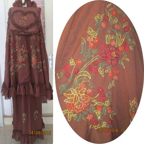 mukena sulam bayang sulaman khas bukittinggi muslim wear