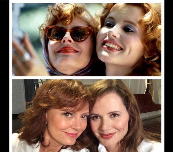 Thelma et Louise= Susan Sarandon et Geena Davis