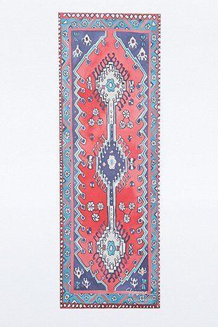 Yogamatte mit Teppichprint in Rot und Lila