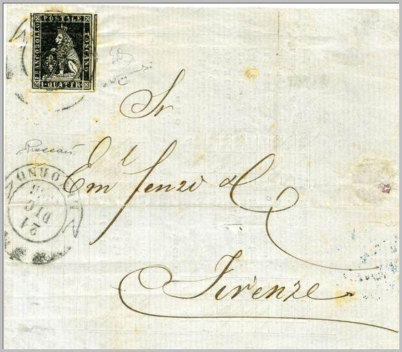 1853, 21 dicembre. Da Livorno a Firenze