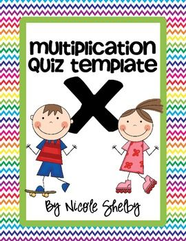 Multiplication Quiz Freebie  @Monica Smith