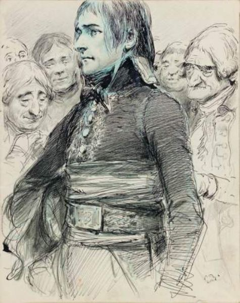 Édouard Detaille's study of the young Napoleon as a consul.: