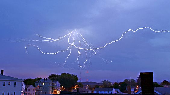 "AccuFan Weather Photo of the Day: Massachusetts Lightning 9/1/13 by ""Jakeybakey1973."""