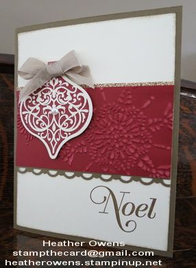 Ornament Keepsakes Card from Stampin' Up!