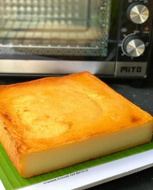 Bingka Ubi Kayu Cassava Cake By Vitakwee Resep Aneka Kue Enak Cassava Cake Resep Cake Cake