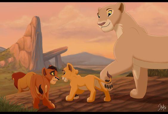 Simba,Kovu, Kiara, and Nala