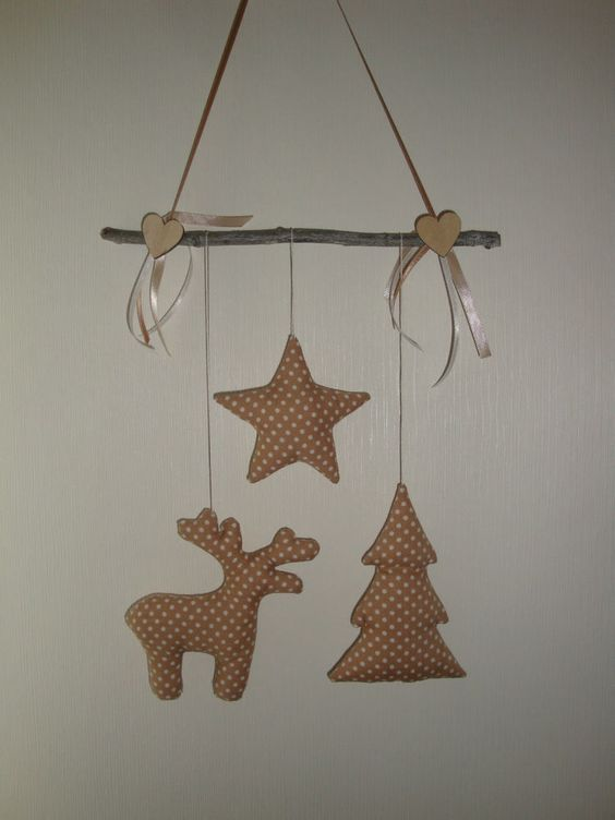 girlande mobile elch baum tilda stern weihnachten winter neu handarbeit beige 1 weihnachten. Black Bedroom Furniture Sets. Home Design Ideas