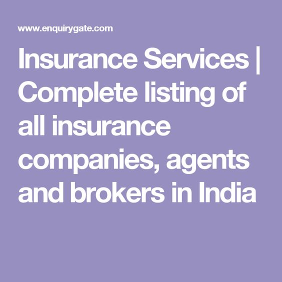 Insurance Services Complete Listing Of All Insurance Companies