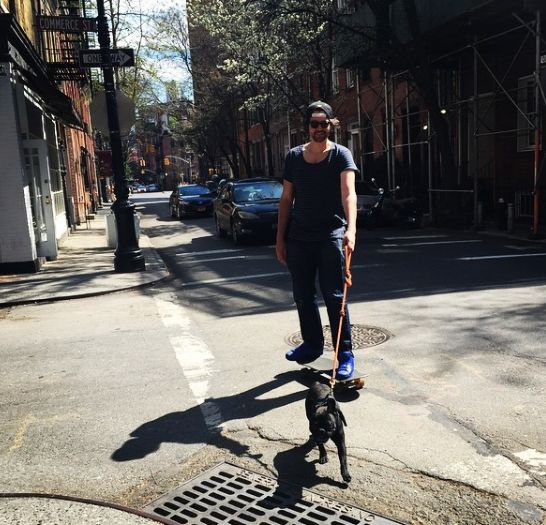 west village rolling. #bogie #geoffshively #nyc