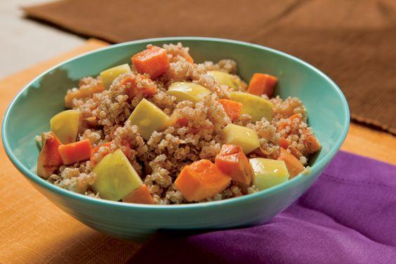 Cinnamon Spiced Quinoa with Apples and Sweet Potato Recipe