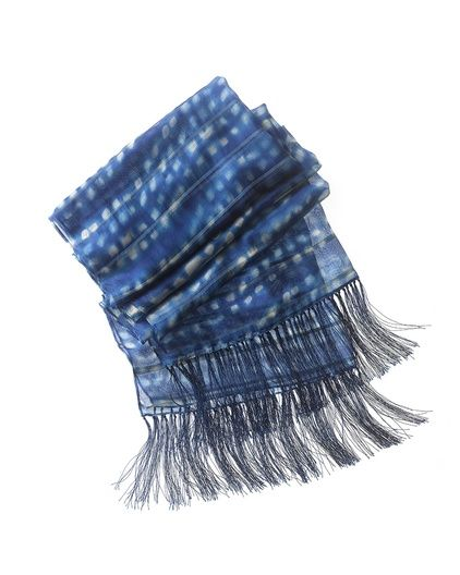 Sultana scarf/ Any of the 3 colour choices, brownish, reddish or blue, look great.