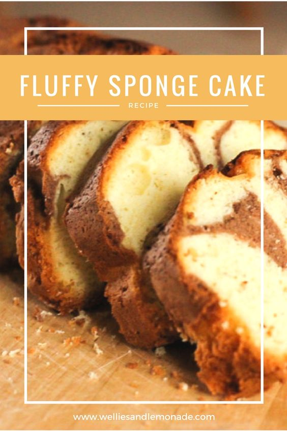 Delicious and fluffy sponge cake. Great and easy for baking with kids. Click through to read or pin now for later. See more at http://welliesandlemonade.com