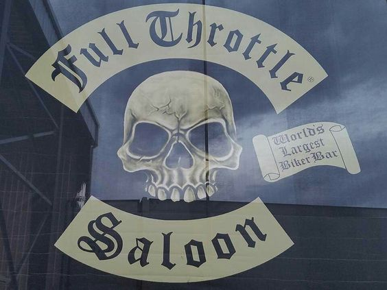Full Throttle Saloon Leather  Patch