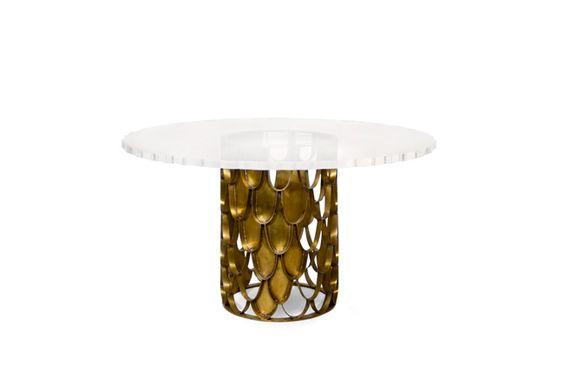 KOI | Modern Dining Table by BRABBU | Mesas y Sillas, Mesas, mesa, Mesas de metal, Mesas estilo moderno, Mesas de vidrio, Mesas redondas, Mesas de comedor