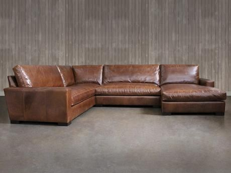 Braxton Leather L Sectional Sofa With Chaise With Images
