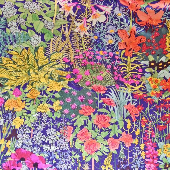 Based on a lovely, hand-painted floral print, Anna's Garden presents an array of gorgeous, detailed flowers on a deep purple background. This print is beautifully soft and elegant.  Please nb. th...
