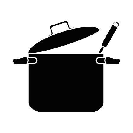 Kitchen Pot With Ladle Vector Illustration Design Vector Illustration Design Illustration Design Design