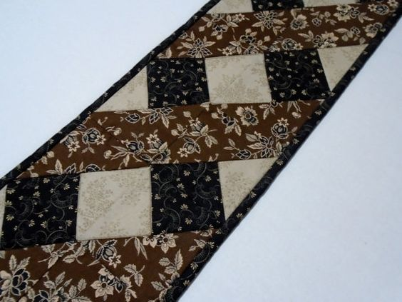 Primitive Quilted Table Runner Table Topper by ForgetMeNotQuilteds