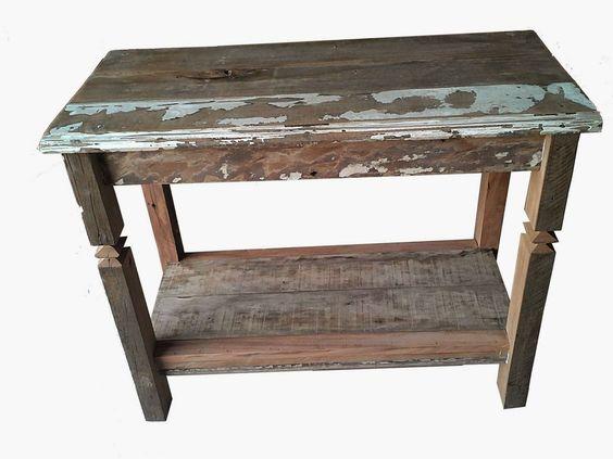 Velho Rústico : Aparador 01 madeira de demolição.