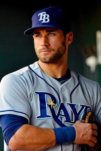 Watching a close game right now between the Rays and my team, the Tigers. Score is 7-7 and we're going into the 10th inning. I love the Tigers and naturally want them to win this game, but I have to admit that my eyes have been on Kevin Kiermaier throughout much of this game. He is absolutely gorgeous!