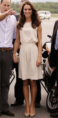 love the cream dress and shoes.