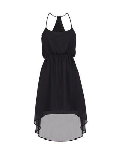 SuiteBlanco- Vestido bajo asimétrico