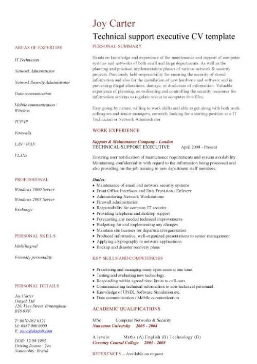 Resume and CVu0027s cvs Pinterest - network security resume