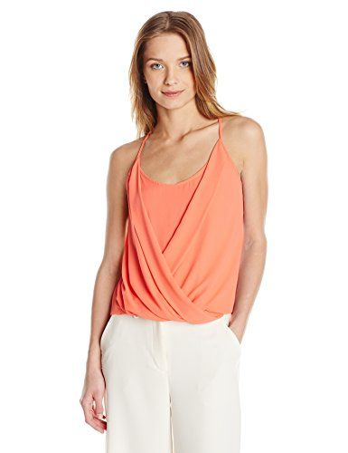BCBGMAXAZRIA Women's Saige Racerback Tank, Ambrosia, Large >>> For more information, visit image link.