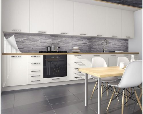 Kuchenruckwand Myspotti Splash Black Bricks 450x60cm Bei Hornbach Kaufen Kuchenruckwand Kuche Kuchen Design