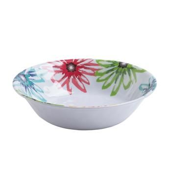 Serve your guests all summer long with this stylish and durable outdoor patioware. Perfect for use at your next backyard barbeque, lounging poolside, at the cottage, camping trip or at a picnic in the park. Thick melamine construction won't break when dropped.