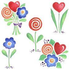 Resultado de imagen para flores de colores para recortar e imprimir