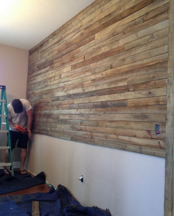 Pallet Wall Project | The Owner-Builder Network