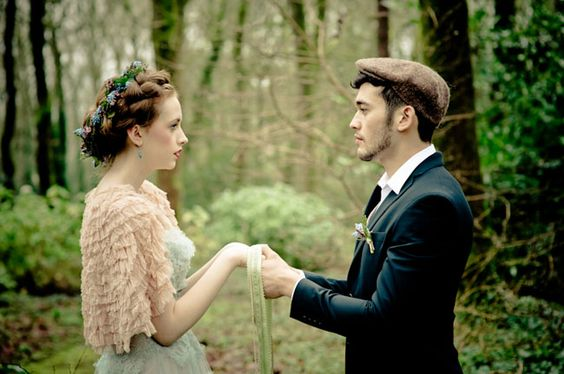"""A MUST!!! Irish Wedding Traditions-  Handfasting...Handfasting is an ancient Ireland Celtic tradition, in which a man + woman came together at the start of their marriage relationship. Each partner holds the hands of the other, right hand to right hand, left hand to left, their wrists crossed. The ribbon is wound around the wrists over the top of one and under and around the other, creating the infinity symbol. The practice gave way to the expression """"tying the knot""""....very cool"""