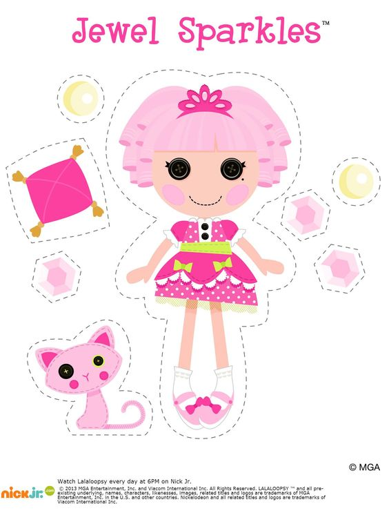 Jewel sparkles free printable on nick jr peint for Lalaloopsy jewel sparkle coloring pages