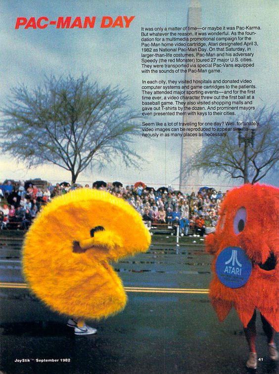 The first ever PacMan Day in 1982. Scans from the Internet Archive's Joystik Magazine Collection.