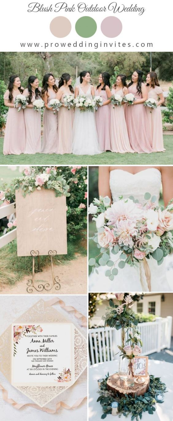 The Best Gold Wedding Colors Combos for 2021: Gold +  Blush pink