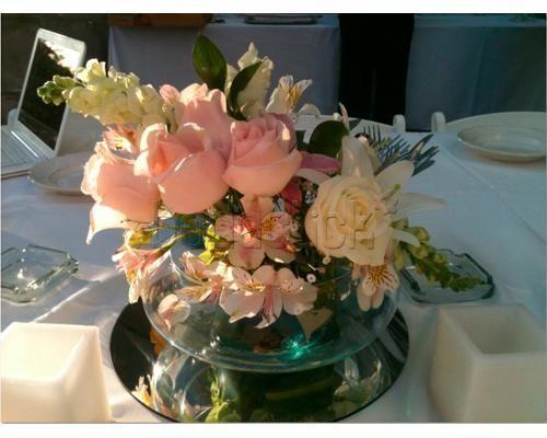 Centros de mesa con flores naturales centros de mesa flores naturales pinterest mesas - Centro de flores naturales ...